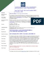 ACNUExpress Vol.5 No.19 - Du 1 Au 15 Octobre 2010