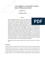 The Impact of Task Complexity on Iranian EFL Learners' Cohesive Writing across Gender