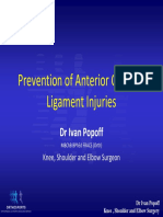 Prevention of ACL Injury