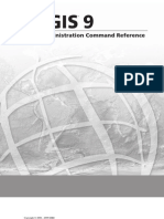 ArcSDE® Administration Command Reference