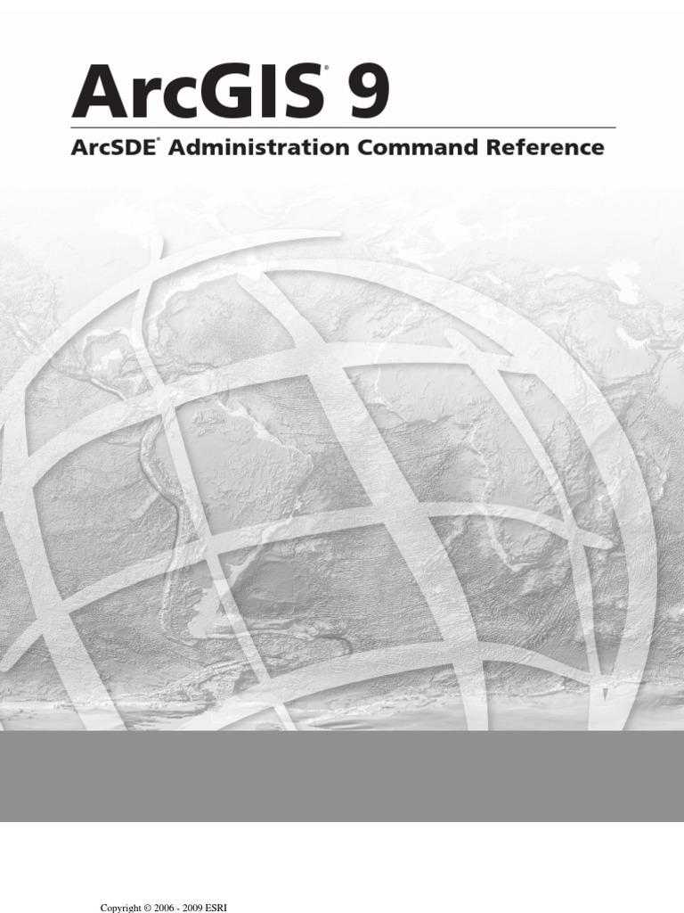 ArcSDE® Administration Command Reference   Oracle Database   Arc Gis