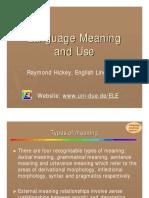 Language Meaning