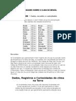 Curiosidades Sobre o Clima No Brasil