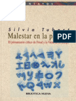 TUBERT, Silvia - Malestar en La Palabra. El Pensamiento Crítico de Freud y La Viena de Su Tiempo. (1)