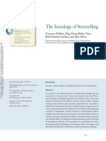 Polletta Et Al ARS Sociology of Storytelling