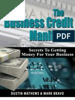 Dustin Mathews Business Credit Manifesto