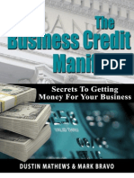 Dustin Mathews Business Credit Manifesto
