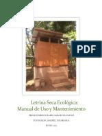 Letrina Seca Manual+Mantenimiento+y+Uso