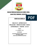 Kertas Kerja Majlis Apresiasi 2018