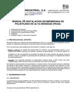 Geomembrana Soldaduras y Anclajes BN