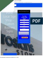 Irvine California Sign Company