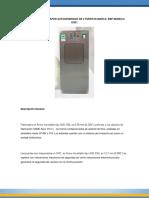 Catalogo de Esterilizador de Vapor Doble Puerta Pantalla Touch Marca Epb