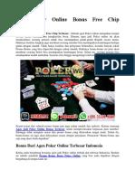 Agen Poker Online Bonus Free Chip Terbesar