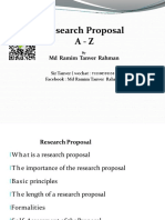 Research Proposal From a to Z