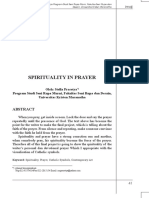 Spirituality in Prayer
