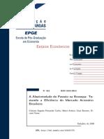 A aleatoriedade do Passeio na Bovespa - Testando a Eficiência do Mercado Acionário.pdf
