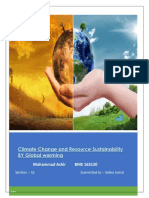 Climate Change and Resource Sustainability by Global Warming