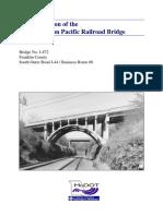 Union Pacific RR Bridge Documentation