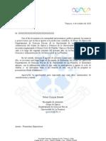 Carta De Invitación A Alcaldes Y Gerentes Municipales Docx