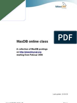 maxdb performance primer