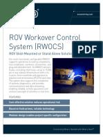 ST&R ROV Workover Control System (RWOCS)