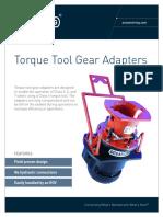 ST&R Torque Tool Gear Adapter