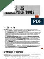 Corpora as Translation Tools