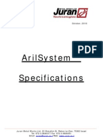 ArilSystem Specifications 2011