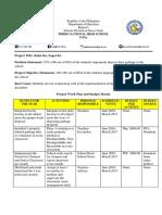 Kalat Ko Sagot Ko Project Proposal and Budget Matrix