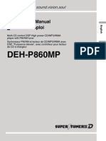 Pionner DEH-P860MP - Operation Manual