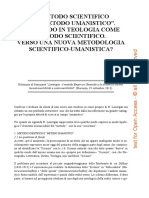 Paolo Gherri - Metodo Scientifico e Metodo Umanistico