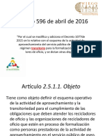 Decreto 596 de Abril de 2016