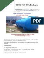 MURAH, WA +62 812-9627-2689, Bio Septic Tank Garut