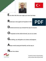 Erdogan, the great leader, a poem