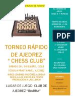 Torneo Rapido de Ajedrez 2018