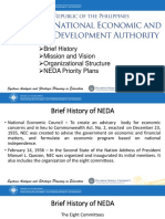NEDA Vison Mission and Organizational Structure