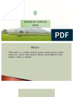 Design of Surplus Weir