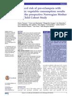 Reduced risk of preeclampsia