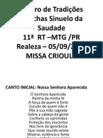 Slides Missa Crioula