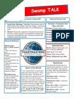 Swamp Talk, Okefenokee Toastmasters Newsletter, January 2019