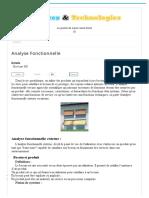 Analyse Fonctionnelle - Sciences Et Technologies