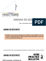 Anemia e Isoinmunizacion Rh