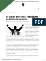 El Político Profesional y El Discurso Políticamente Correcto - Instituto Ludwig Von Mises Venezuela