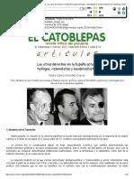 Pedro Carlos González Cuevas, Las Otras Derechas en La España Actual_ Teólogos, Razonalistas y Neoderechistas, El Catoblepas 103_10, 2010