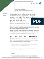 Raccourcis Clavier Et Les Touches de Fonction Excel Pour Windows - Excel