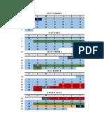 calendario programado