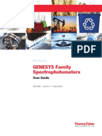 Genesys Family Uv Visible Spectrophotometers User Guide 269 331300