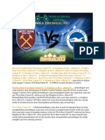 Prediksi Skor West Ham United FC vs Brighton & Hove Albion FC 3 Januari 2019