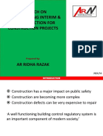 Research on Understanding Interim & Final Inspection for Construction Projects