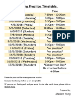 Choral Speaking Practice Timetable